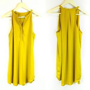 Naked Zebra Tunic Dress Mustard Size Medium